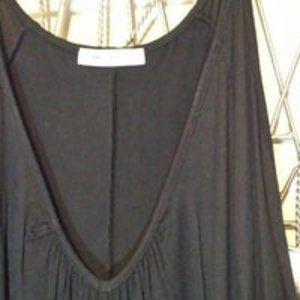 Emerald Black/ Gray Cold Shoulder 1X Top